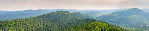 Green mountains and scenery in Arkansas