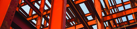 Large red steel structure