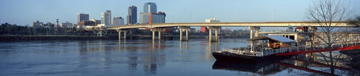 Arkansas River in the city of Little Rock