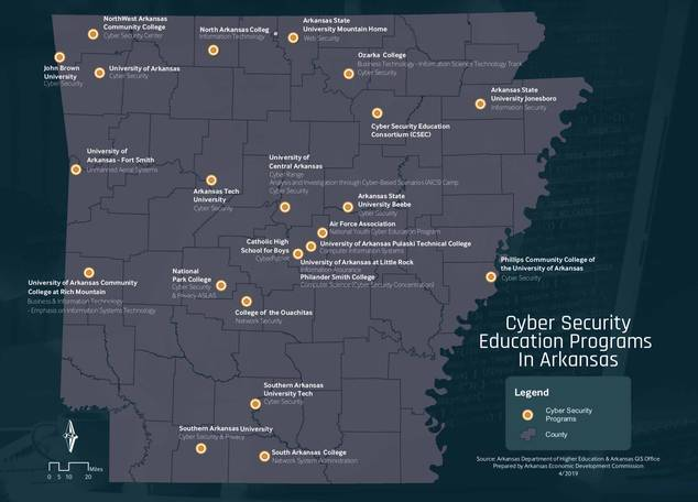 cyber security education programs in arkansas