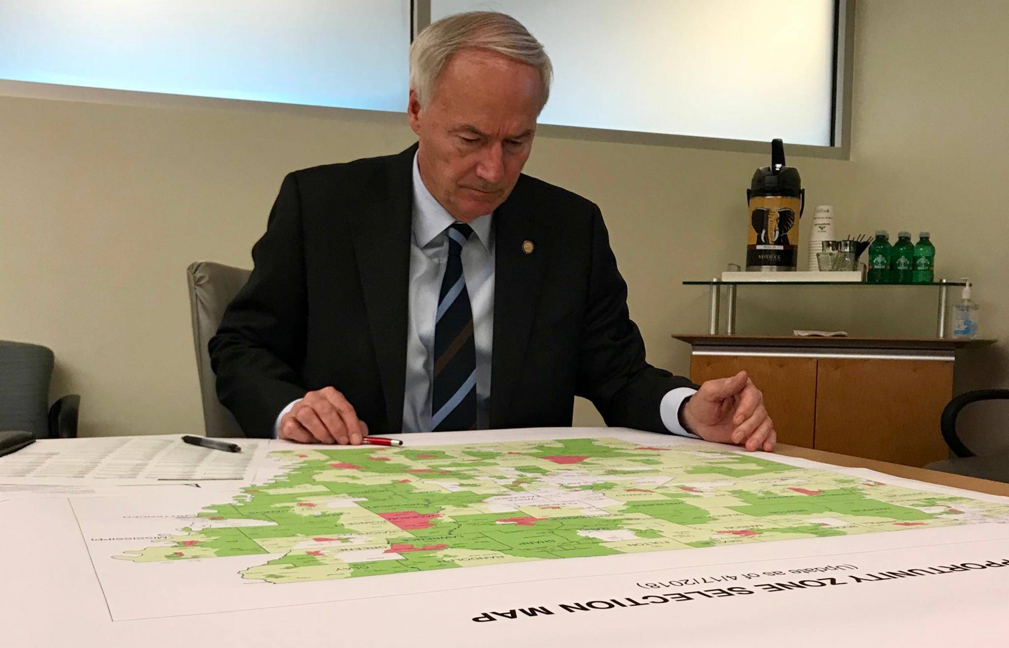 Asa Hutchinson Opportunity Zones Map