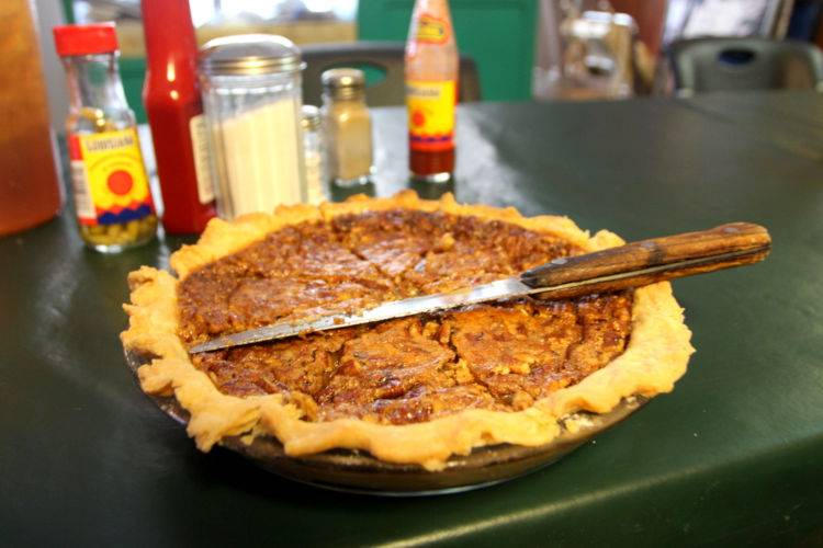 Little Rock Sandys Homeplace Cafe pecan pie by Kat Robinson