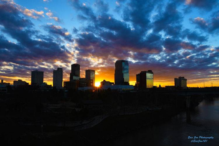 Little Rock-skyline-sunburst-pc_eric nicholson